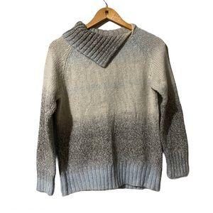 Dressbarn Cut out Cowlneck Knit Sweater size LP